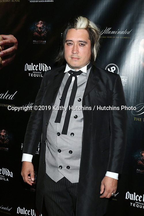 """LOS ANGELES - JUL 30:  Johnny Royal at the """"Illuminated:  The True Story of the Illuminati""""  at the The Venue on July 30, 2019 in Los Angeles, CA"""