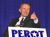 ***FILE PHOTO*** Ross Perot Has Passed Away At 89.<br /> Undeclared candidate for President of the United States Ross Perot holds a press conference in Annapolis, Maryland on June 24, 1992.<br /> CAP/MPI/RS<br /> ©RS/MPI/Capital Pictures