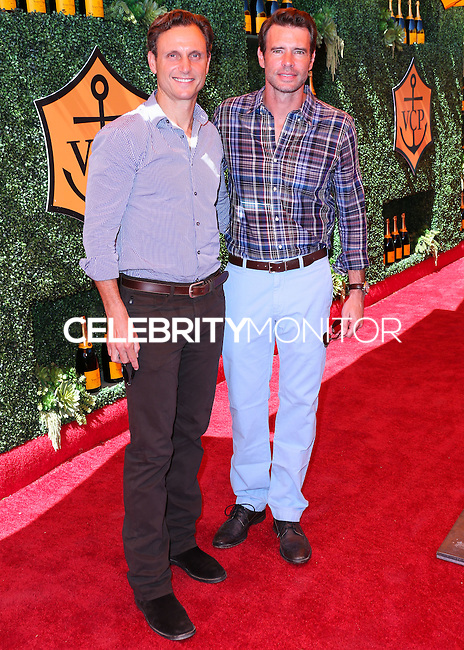 PACIFIC PALISADES, CA, USA - OCTOBER 11: Tony Goldwyn, Scott Foley arrive at the 5th Annual Veuve Clicquot Polo Classic held at Will Rogers State Historic Park on October 11, 2014 in Pacific Palisades, California, United States. (Photo by Xavier Collin/Celebrity Monitor)