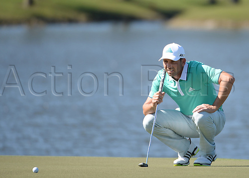 06.03.2016. Doral, Florida, USA.    Sergio Garcia of Spain on the 8th green during the final round of the World Golf Championships-Cadillac Championships - Final Round at Trump National Doral in Doral, FL