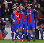 11.01.2017 Barcelona, Copa del Rey 1/8 Finals. Picture show Luis Suarez, Leo Messi and Sergi Roberto in action during game between FC Barcelona against Athelic at Camp Nou