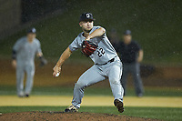 Davidson Wildcats relief pitcher Dan Spear (22) in action against the Wake Forest Demon Deacons at David F. Couch Ballpark on May 7, 2019 in  Winston-Salem, North Carolina. The Demon Deacons defeated the Wildcats 11-8. (Brian Westerholt/Four Seam Images)
