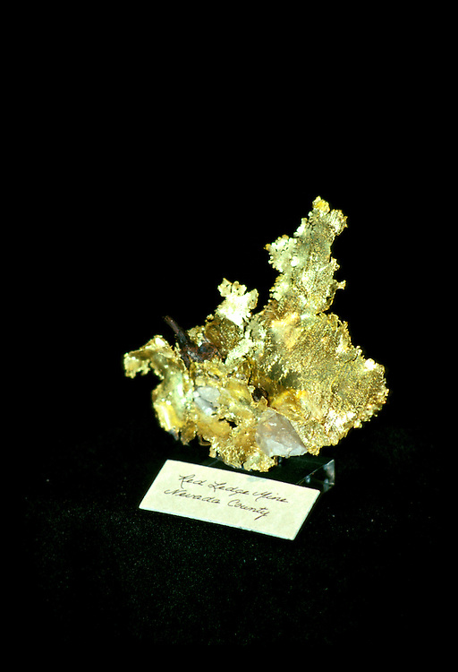 California: Gold Country.  Fricot Nugget at Mariposa Mining Museum..Photo copyright Lee Foster, 510/549-2202, lee@fostertravel.com, www.fostertravel.com..Photo #: cagold104