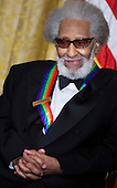 Musician Sonny Rollins listens during a Kennedy Center Honors reception in the East Room of the White House, Sunday, December 4, 2011 in Washington, DC.  For their accomplishments and contributions to the arts actress Meryl Streep, singer Neil Diamond, actress Barbara Cook, musician Yo-Yo Ma, and musician Sonny Rollins where etched recognized as this year's recipients of the Kennedy Center Honors..Credit: Brendan Smialowski / Pool via CNP