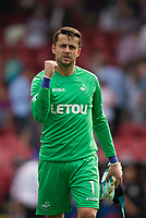 Swansea City's Lukasz Fabianski celebrates his sides victory    <br /> <br /> <br /> Photographer Craig Mercer/CameraSport<br /> <br /> The Premier League - Crystal Palace v Swansea City - Saturday 26th August 2017 - Selhurst Park - London<br /> <br /> World Copyright &copy; 2017 CameraSport. All rights reserved. 43 Linden Ave. Countesthorpe. Leicester. England. LE8 5PG - Tel: +44 (0) 116 277 4147 - admin@camerasport.com - www.camerasport.com