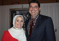 NWA Democrat-Gazette/CARIN SCHOPPMEYER Nassima and Sharif Omar attend Go Red.
