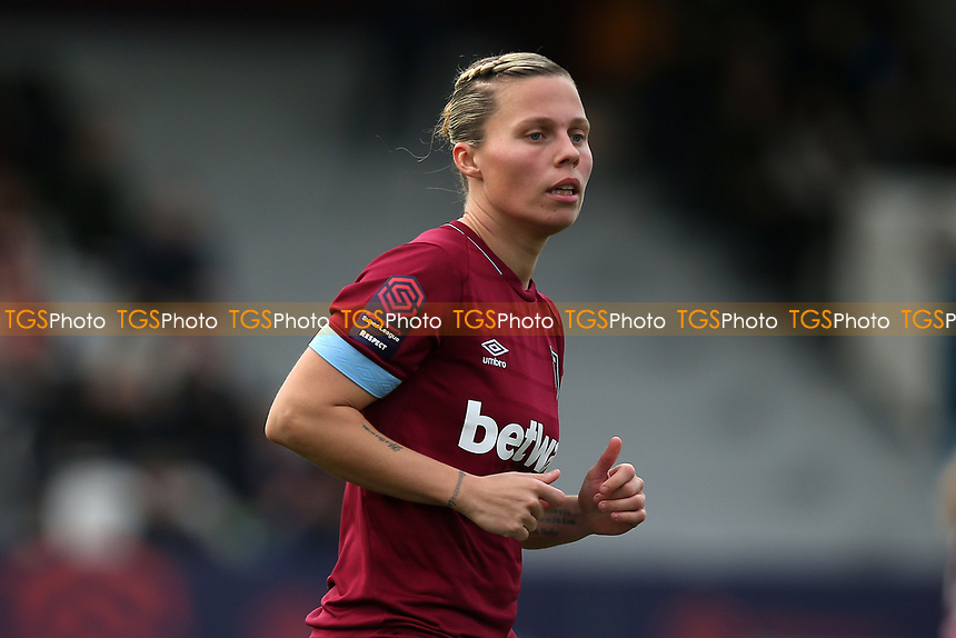 Gilly Flaherty of West Ham during West Ham United Women vs Arsenal Women, FA Women's Super League Football at Rush Green Stadium on 6th January 2019