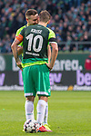 10.02.2019, Weser Stadion, Bremen, GER, 1.FBL, Werder Bremen vs FC Augsburg, <br /> <br /> DFL REGULATIONS PROHIBIT ANY USE OF PHOTOGRAPHS AS IMAGE SEQUENCES AND/OR QUASI-VIDEO.<br /> <br />  im Bild<br /> <br /> Freistoss Kevin Möhwald / Moehwald (Werder Bremen #06)<br /> Max Kruse (Werder Bremen #10)<br /> <br /> <br /> Foto © nordphoto / Kokenge