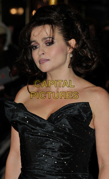 Helena Bonham Carter.World Premiere of 'Les Miserables' at the Odeon & Empire cinemas Leicester Square, London, England..December 5th 2012.half length black strapless dress .CAP/WIZ.© Wizard/Capital Pictures.
