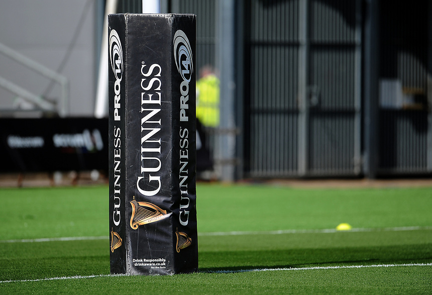 Guinness pro 14 branding <br /> <br /> Photographer Ashley Crowden/CameraSport<br /> <br /> Guinness Pro14 Round 1 - Dragons v Leinster Rugby - Saturday 2nd September 2017 - Rodney Parade - Newport, Wales<br /> <br /> World Copyright &copy; 2017 CameraSport. All rights reserved. 43 Linden Ave. Countesthorpe. Leicester. England. LE8 5PG - Tel: +44 (0) 116 277 4147 - admin@camerasport.com - www.camerasport.com