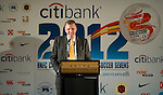 Citibank CEO Stephen Bird during Sportsman's Dinner ahead the HKFC Citibank International Soccer Sevens at the Hong Kong Football Club Main Sports Hall on May 17, 2012 in Hong Kong. Photo by Victor Fraile / The Power of Sport Images for HKFC