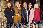 Bogumila Jedrzejowska, Ann Louise Curtin, Bridget Concagh, Noelle McCarthy and Chloe Scollard, staff of Ballygarry House Hotel enjoying their Christmas Party in the Rose Hotel on Sunday.