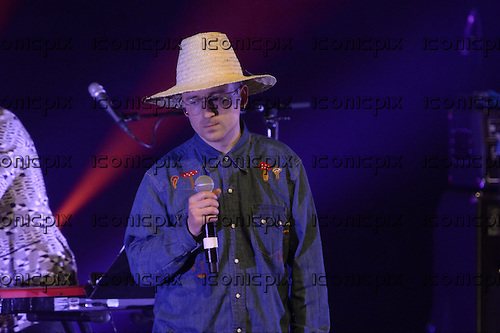 Alexis Taylor (Hot Chip)  - performing live Atomic Bomb: Who Is William Onyeabor at the Barbican Hall in London UK - 01 April 2014. Photo credit: George Chin/IconicPix