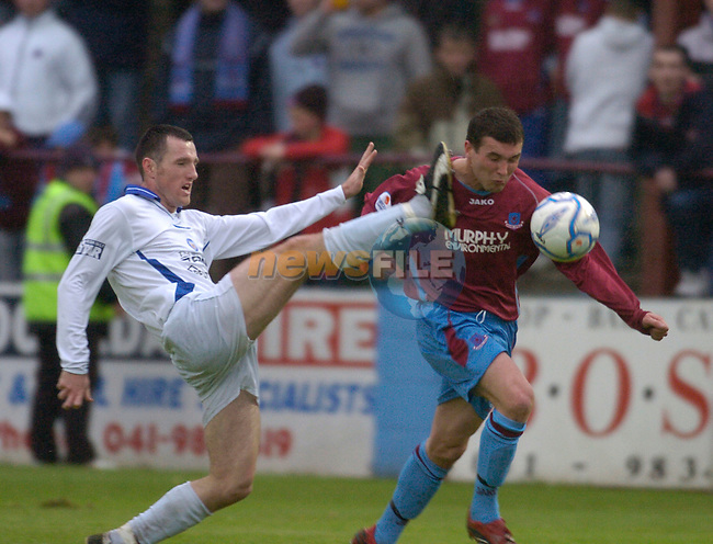 19th May, 2006 Eircom League Soccer - Drogheda United v Waterford United at O2 park, Drogheda..Shane Barrett in action for Drogheda United..Photo:Barry Cronin/Newsfile.
