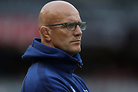 DURBAN, SOUTH AFRICA - APRIL 14: John Mitchell (Head Coach) of the Vodacom Blue Bulls during the Super Rugby match between Cell C Sharks and Vodacom Bulls at Jonsson Kings Park Stadium on April 14, 2018 in Durban, South Africa. Photo: Steve Haag / stevehaagsports.com