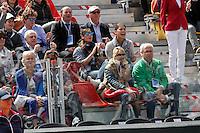 Flavia Pennetta segue il fidanzato Fabio fognini durante l'incontro di coppa davis italia Gran Bretagna