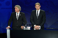 23.02.2013. Nice, France. UEFA Drawing fo the 2016 UEFA EURO Championships. Jean Marie Pfaff, Peter Schmeichle