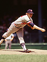 CIRCA 1972:  Bert Blyleven #28 of the Minnesota Twins pitching during a game from his 1972 season with the Minnesota Twins.  Bert Blyleven played for 22 years with 4 different, was a 2-time All-Star and was inducted to the Baseball Hall of Fame in 2011(Photo by: 1972 : SportPics : Bert Blyleven
