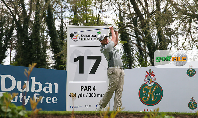 Colm Campbell Jnr (NIR-AM) on the 17th tee during Monday's practice round ahead of the 2016 Dubai Duty Free Irish Open Hosted by The Rory Foundation which is played at the K Club Golf Resort, Straffan, Co. Kildare, Ireland. 16/05/2016. Picture Golffile | David Lloyd.<br /> <br /> All photo usage must display a mandatory copyright credit as: &copy; Golffile | David Lloyd.