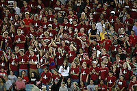 16 September 2006: The student fan section, the Red Zone, during Stanford's 37-9 loss to Navy during the grand opening of the new Stanford Stadium in Stanford, CA.