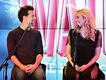 Jason Mraz and Betsy Wolfe attend the Jason Mraz joins the cast of  'Waitress' Press Event on October 30, 2017 at You Tube Space in New York City.