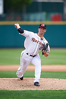 Rochester Red Wings relief pitcher Marcus Walden (18) delivers a pitch during a game against the Indianapolis Indians on May 26, 2016 at Frontier Field in Rochester, New York.  Indianapolis defeated Rochester 5-2.  (Mike Janes/Four Seam Images)