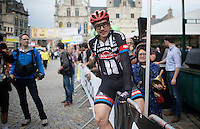 John Degenkolb (DEU/Giant-Alpecin) jumping some fences pre-race<br /> <br /> Post-Tour Criterium Mechelen (Belgium) 2016