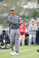 Tiger Woods (USA) on the 5th tee during the 3rd round of the US Open Championship, Pebel Beach Golf Links, Monterrey, Calafornia, USA. 15/06/2019.<br /> Picture Fran Caffrey / Golffile.ie<br /> <br /> All photo usage must carry mandatory copyright credit (© Golffile | Fran Caffrey)