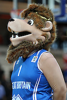 Pride The Lion, GB Mascot during the EuroBasket 2015 2nd Qualifying Round Great Britain v Bosnia & Herzegovina (Euro Basket 2nd Qualifying Round) at Copper Box Arena in London. - 13/08/2014