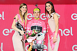 Simon Yates (GBR) Mitchelton-Scott retains the race leader's Maglia Rosa at the end of Stage 16 of the 2018 Giro d'Italia, a 34.2km individual time-trial from Trento to Rovereto the stage is a pivotal moment in the fight for the Corsa Rosa's GC, Italy. 21st May 2018.<br /> Picture: LaPresse/Gian Mattia D'Alberto | Cyclefile<br /> <br /> <br /> All photos usage must carry mandatory copyright credit (&copy; Cyclefile | LaPresse/Gian Mattia D'Alberto)