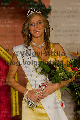 Edina Szommer winner of the Teen Miss Hungary beauty contest held in Budapest, Hungary on December 29, 2011. ATTILA VOLGYI