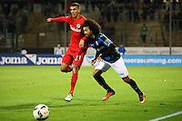 Aymen Barkok (Eintracht Frankfurt) gegen La'Vere Corbin-Ong (FSV Frankfurt)- 10.11.2016: FSV Frankfurt vs. Eintracht Frankfurt, Frankfurter Volksbank Stadion