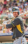 22 March 2015: Pittsburgh Pirates infielder Jordy Mercer stands on deck prior to the start of a Spring Training game against the Houston Astros at Osceola County Stadium in Kissimmee, Florida. The Astros defeated the Pirates 14-2 in Grapefruit League play. Mandatory Credit: Ed Wolfstein Photo *** RAW (NEF) Image File Available ***