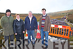 Furious residents in Dromid have had to endure a bridge closure since the end of March 2012 with no time frame for repair work to be carried out on Cahersivane Bridge, pictured here l-r; Donie Curran,  Hannie Curran, James O'Sullivan & James Curran.