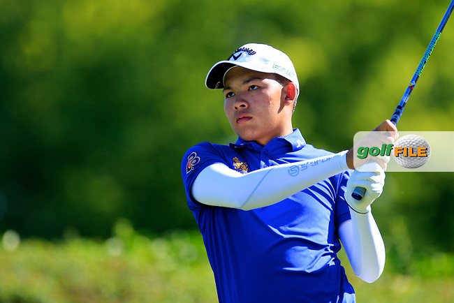 Phachara Khongwhatmai (THA) during the second round of the Lyoness Open powered by Organic+ played at Diamond Country Club, Atzenbrugg, Austria. 8-11 June 2017.<br /> 09/06/2017.<br /> Picture: Golffile | Phil Inglis<br /> <br /> <br /> All photo usage must carry mandatory copyright credit (&copy; Golffile | Phil Inglis)