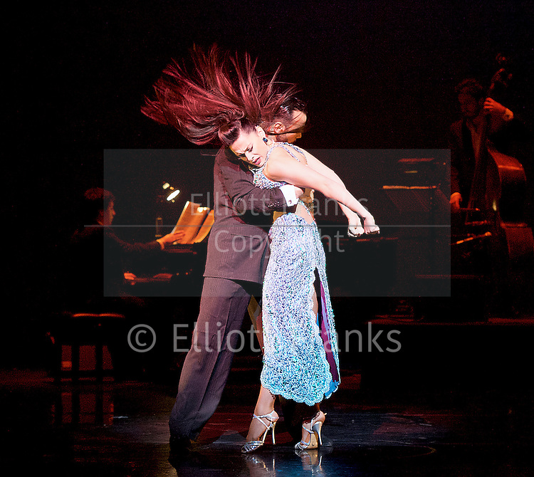 Tango Fire <br /> at The Peacock Theatre, London, Great Britain <br /> press photocall <br /> 30th January 2017 <br /> <br /> German Cornejo's Tango Fire<br /> <br /> <br /> Pata Ancha <br /> <br /> Mariano Balois &amp; Florencia Roldan <br /> <br /> <br /> <br /> <br /> <br /> <br /> Photograph by Elliott Franks <br /> Image licensed to Elliott Franks Photography Services