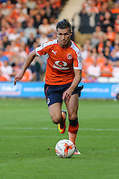 Dan Potts of Luton Town during the Sky Bet League 2 match between Luton Town and Newport County at Kenilworth Road, Luton, England on 16 August 2016. Photo by David Horn.