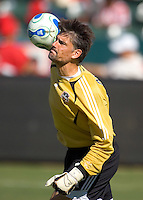 Houston Dynamo GK Pat Onstad during a MLS playoff match. Chivas beat Houston 2-1 at The Home Depot Center in Carson, California, Sunday Oct. 22, 2006.