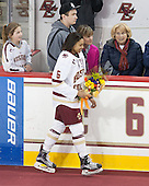 Brooke DiBona (BC), Kaliya Johnson (BC - 6) - The Boston College Eagles defeated the visiting Providence College Friars 7-1 on Friday, February 19, 2016, at Kelley Rink in Conte Forum in Boston, Massachusetts.