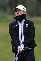 Carmen Griffiths (SCO) on the 1st tee during Round 1 of the Irish Girls U18 Open Stroke Play Championship at Roganstown Golf &amp; Country Club, Dublin, Ireland. 05/04/19 <br /> Picture:  Thos Caffrey / www.golffile.ie