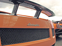 Back view of a Lamborghini Gallardo LP 570-4 Superleggera sportscar.