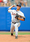 11 March 2008: Detroit Tigers' pitcher Rick Porcello warms up in the bullpen during a Spring Training game against the Cleveland Indians at Chain of Lakes Park, in Winter Haven Florida.The Tigers rallied to defeat the Indians 4-2 in the Grapefruit League matchup....Mandatory Photo Credit: Ed Wolfstein Photo