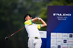 Xi Chen Wang of China tees off during the 2011 Faldo Series Asia Grand Final on the Faldo Course at Mission Hills Golf Club in Shenzhen, China. Photo by Raf Sanchez / Faldo Series