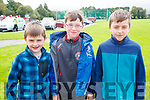 James Daly, Michael Enright and Rory Daly, who took part in the 5k walk in memory of Tony O'Donoghue, Blennerville on Sunday morning.