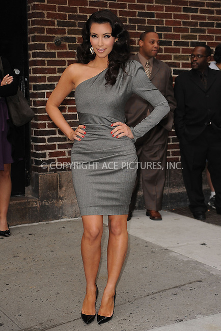 WWW.ACEPIXS.COM . . . . . ....October 1 2009, New York City....TV personality Kim Kardashian made an appearance at the 'Late Show with David Letterman' on October 1 2009 in New York City....Please byline: KRISTIN CALLAHAN - ACEPIXS.COM.. . . . . . ..Ace Pictures, Inc:  ..(212) 243-8787 or (646) 679 0430..e-mail: picturedesk@acepixs.com..web: http://www.acepixs.com