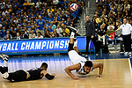LOS ANGELES - MAY 5:  Josh Tuaniga #10 of the Long Beach State 49ers attempts a save during the game against the UCLA Bruins during the Division 1 Men's Volleyball Championship on May 5, 2018 at Pauley Pavilion in Los Angeles, California. The Long Beach State 49ers defeated the UCLA Bruins 3-2. (Photo by John W. McDonough/NCAA Photos via Getty Images)