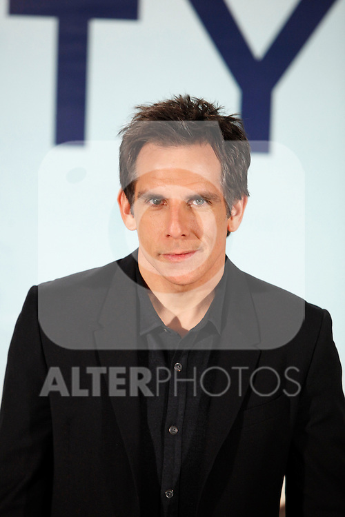 US actor and director Ben Stiller poses during a photocall of his film 'The secret life of Walter Mitty' at Palafox Hotel in Madrid, Spain. December13, 2013. (ALTERPHOTOS/Victor Blanco)