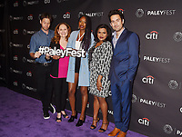 BEVERLY HILLS, CA - SEPTEMBER 08:  (L-R) Actors Ike Barinholtz, Beth Grant, Xosha Roquemore, Mindy Kaling and Ed Weeks attend The Paley Center for Media's 11th Annual PaleyFest fall TV previews Los Angeles for Hulu's The Mindy Project at The Paley Center for Media on September 8, 2017 in Beverly Hills, California.<br /> CAP/ROT/TM<br /> &copy;TM/ROT/Capital Pictures