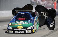 Nov 14, 2010; Pomona, CA, USA; NHRA funny car driver Tony Pedregon during the Auto Club Finals at Auto Club Raceway at Pomona. Mandatory Credit: Mark J. Rebilas-