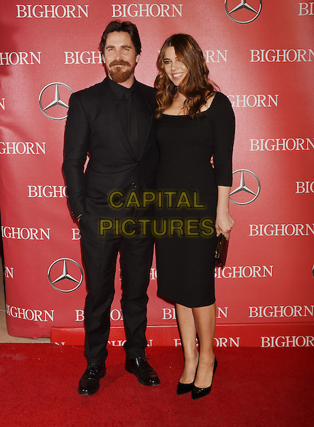 PALM SPRINGS, CA - JANUARY 02: Actor Christian Bale and actress Sibi Blazic attendthe 27th Annual Palm Springs International Film Festival Awards Gala at Palm Springs Convention Center on January 2, 2016 in Palm Springs, California.<br /> CAP/ROT/TM<br /> &copy;TM/ROT/Capital Pictures